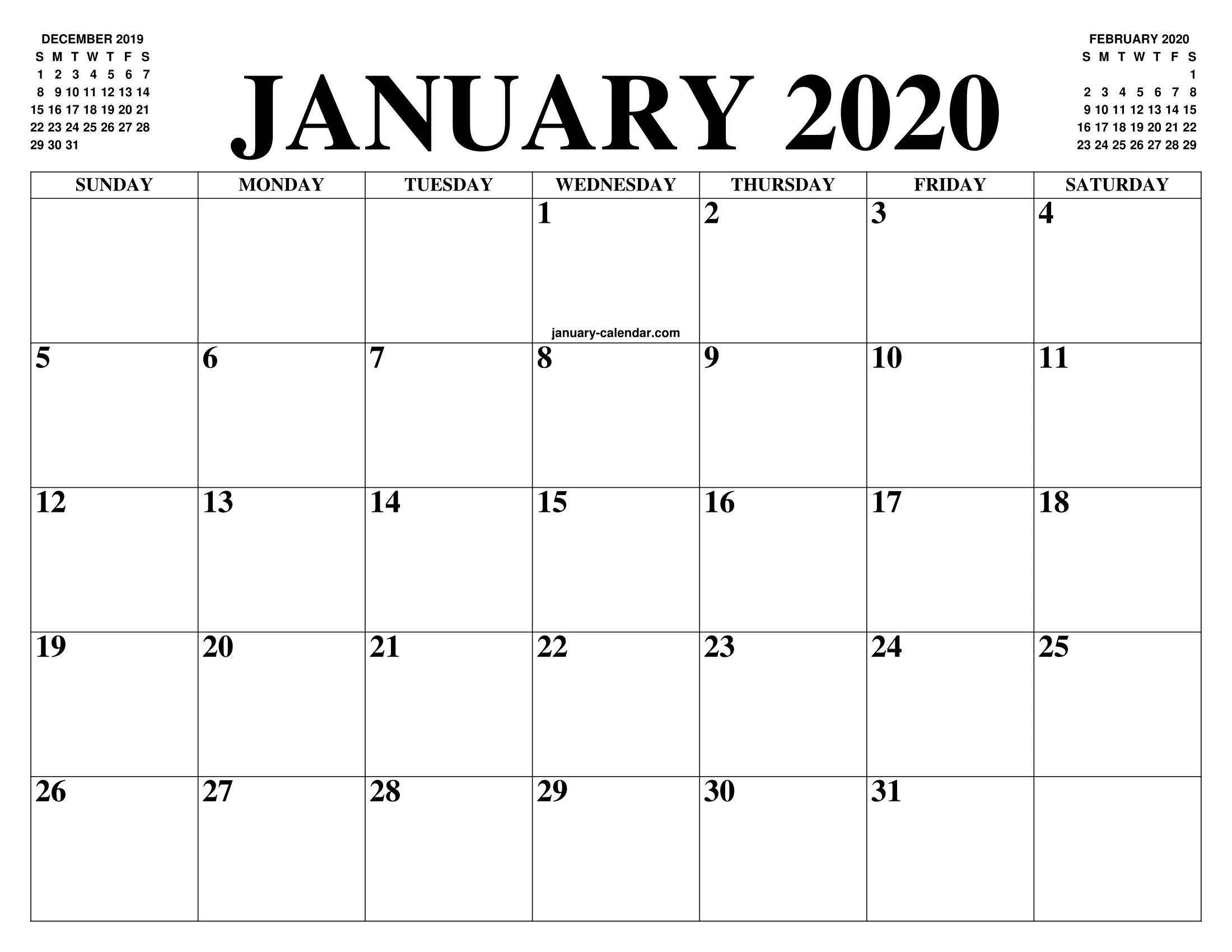 Pintipsographic On Free Templates | Calendars | January within Google Free Printable Calendars 2020