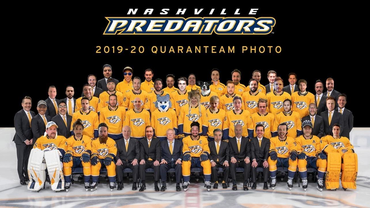 Preds Release 2019-20 Quaranteam Photo for Nashville Predators 2019 2020 Schedule