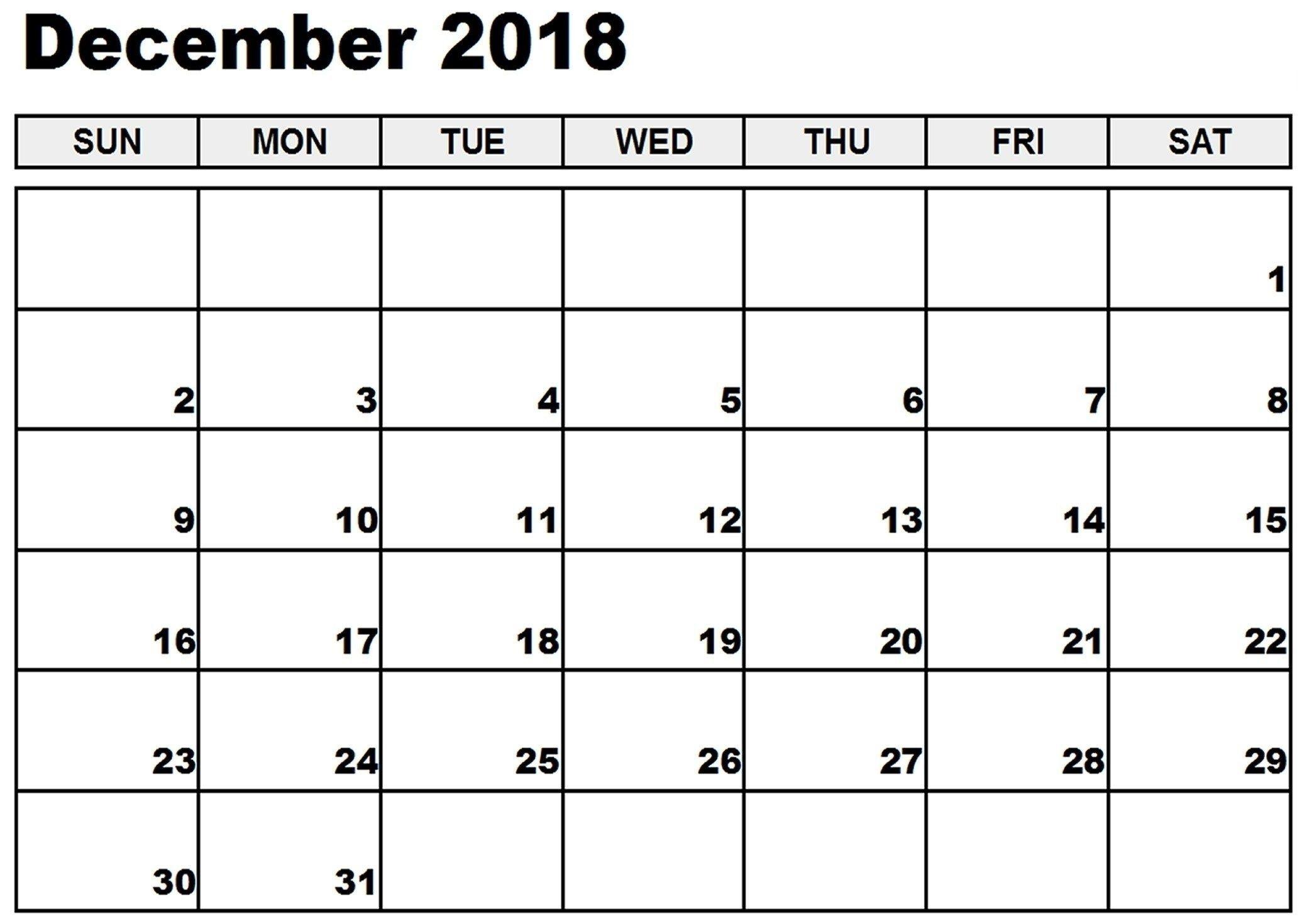Print Calendar Without Download Di 2020 | December