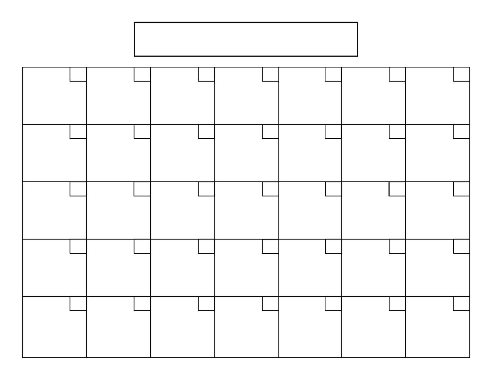 Printable 5 Day Calendar | Monthly Calendar Printable