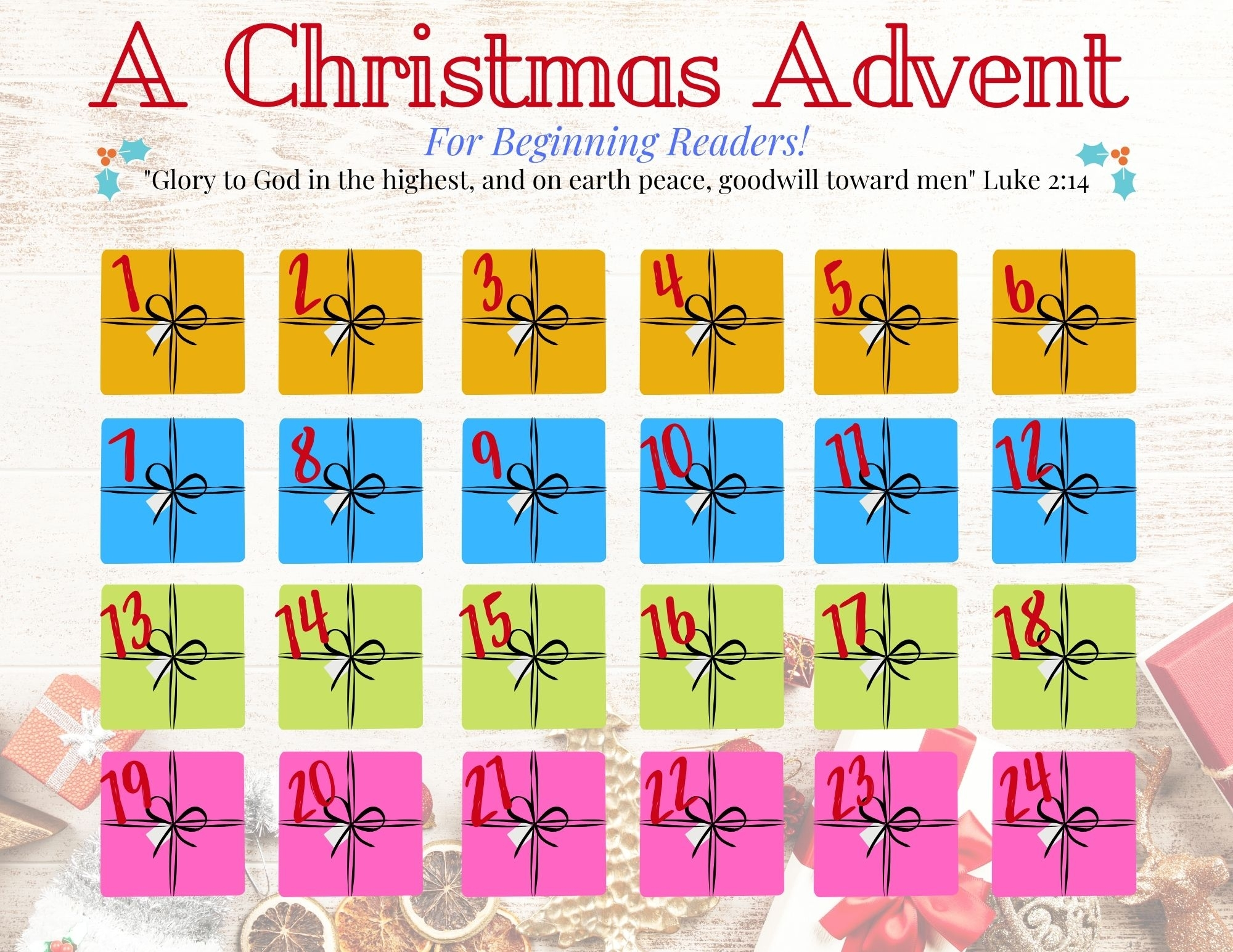 Printable Advent Calendar 2020 - Easy, Scripture-Filled in Verses For Your Advent Calender