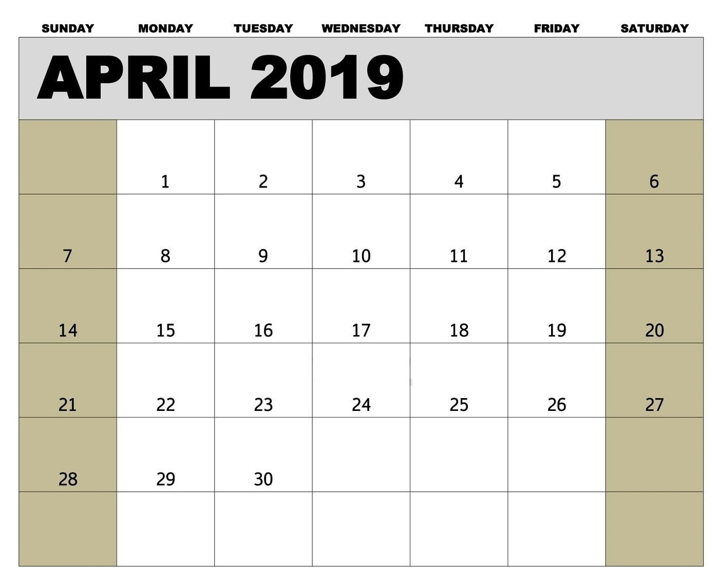 Printable April 2019 Calendar Tamil | Calendar Printables