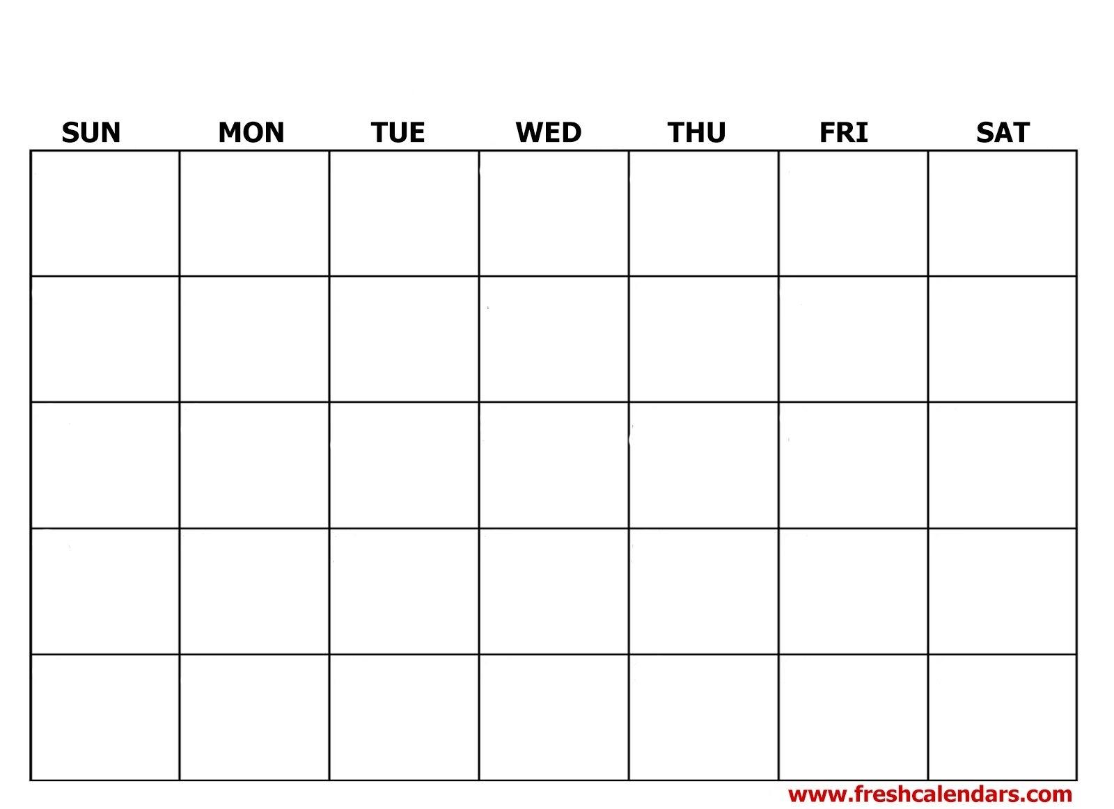 Printable Blank Calendar Templates pertaining to 2020 Calendar To Fill In