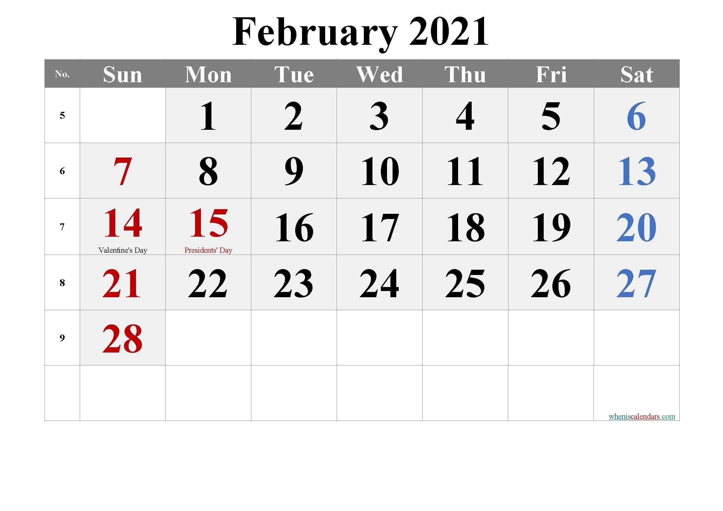 Printable Calendar January February 2021 In 2020 | Calendar