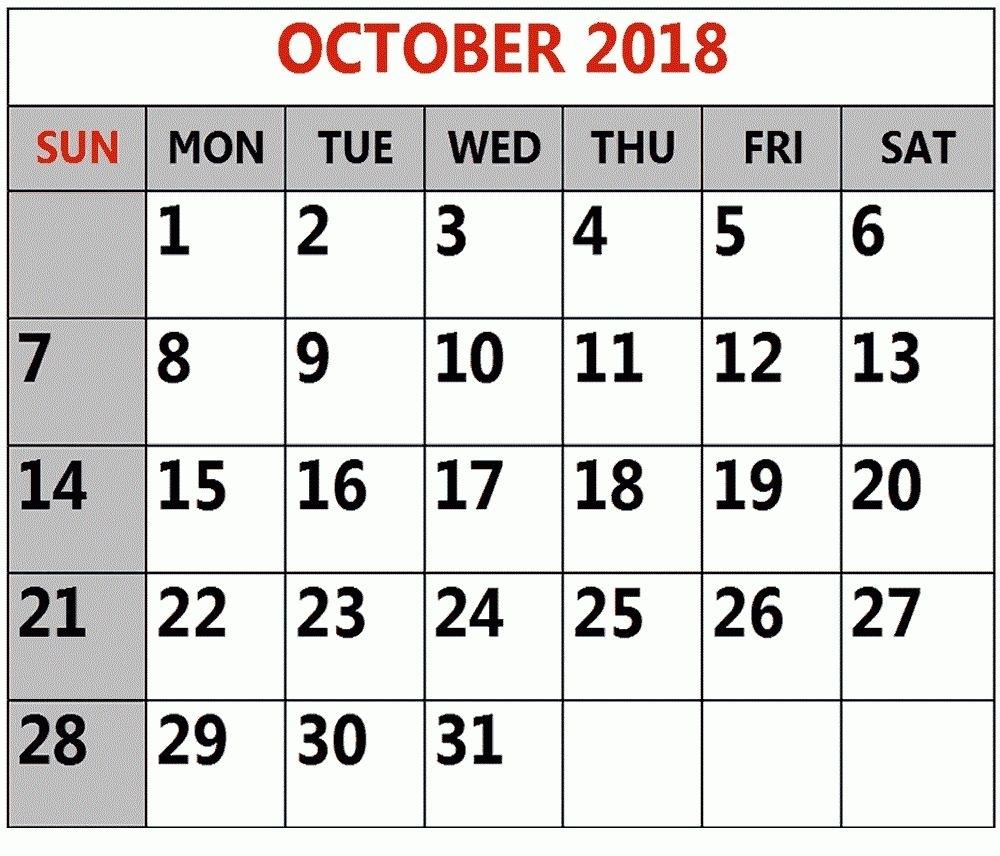 Printable Calendar Large Numbers In 2020 | Printable intended for Large Numbers Free Printable Calendar 2020