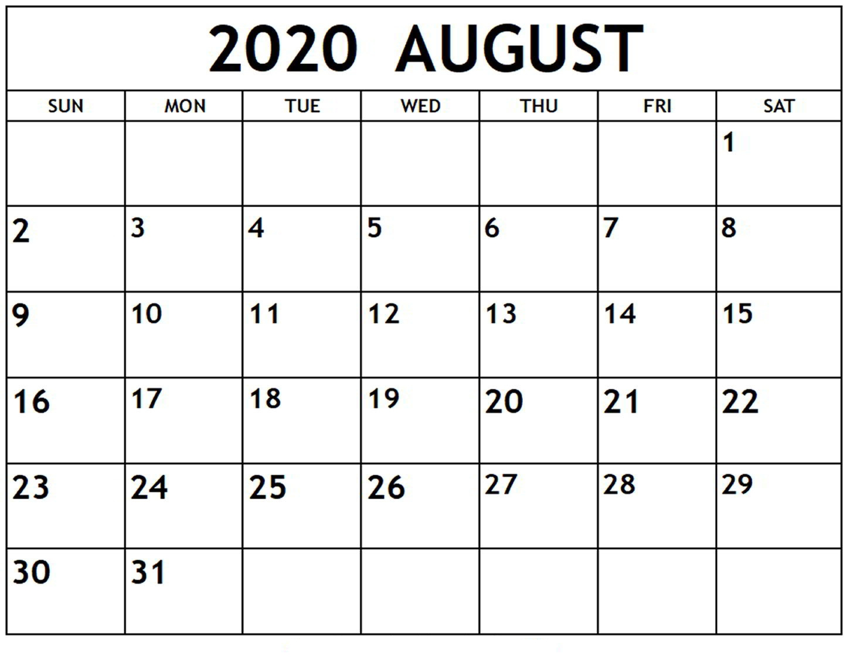 Printable Calendar - Printablecalendar.pictures inside Printable Fill In 2020 Calendar Large Print