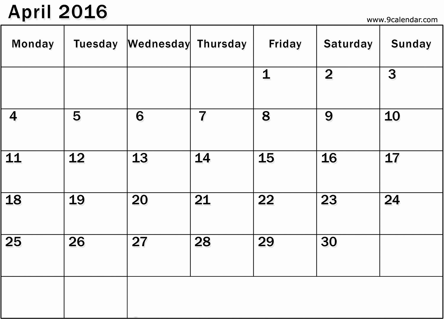 Printable Calendar Starting With Monday In 2020 | Printable