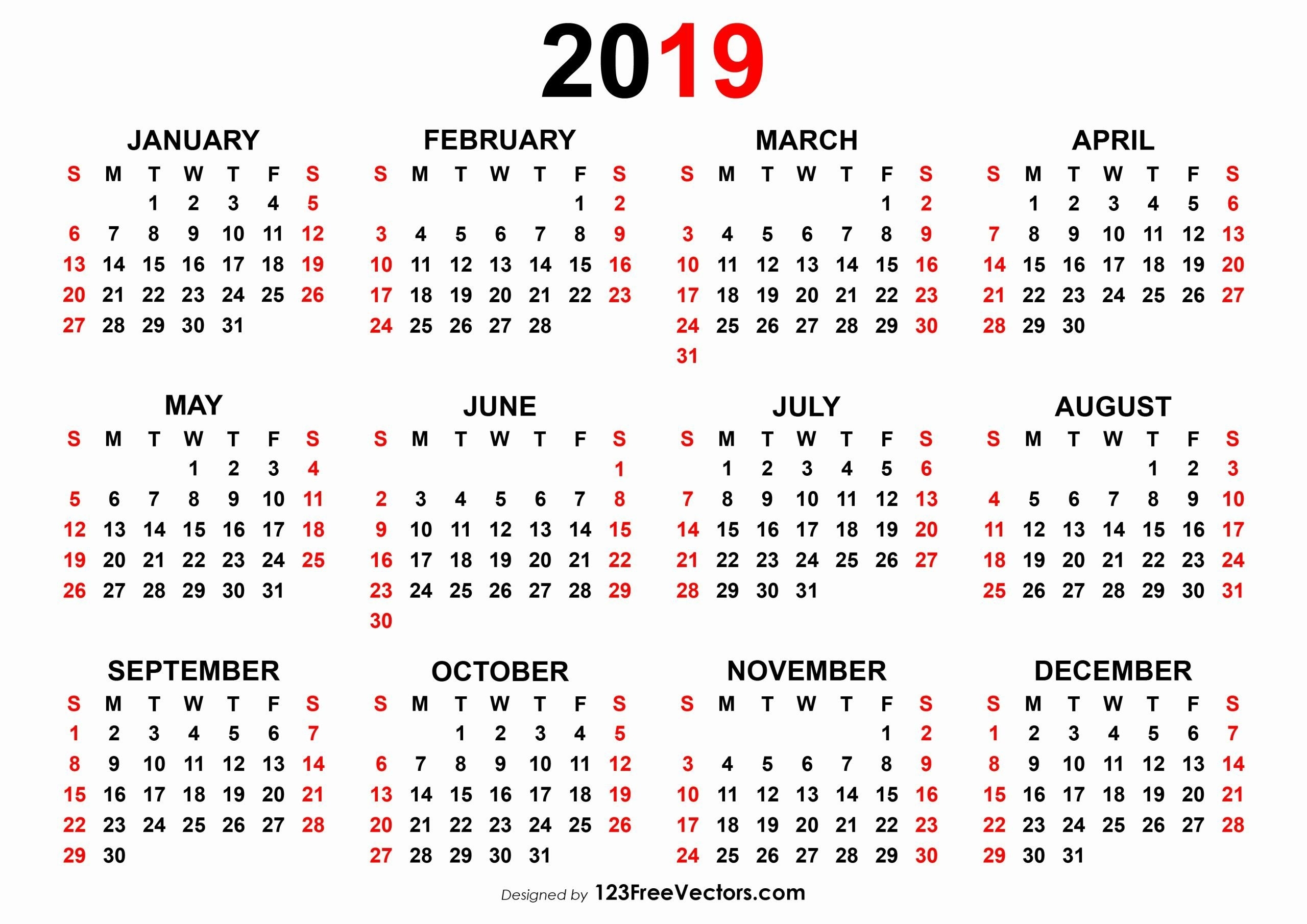 Printable Calendar With Week Numbers 2019 In 2020