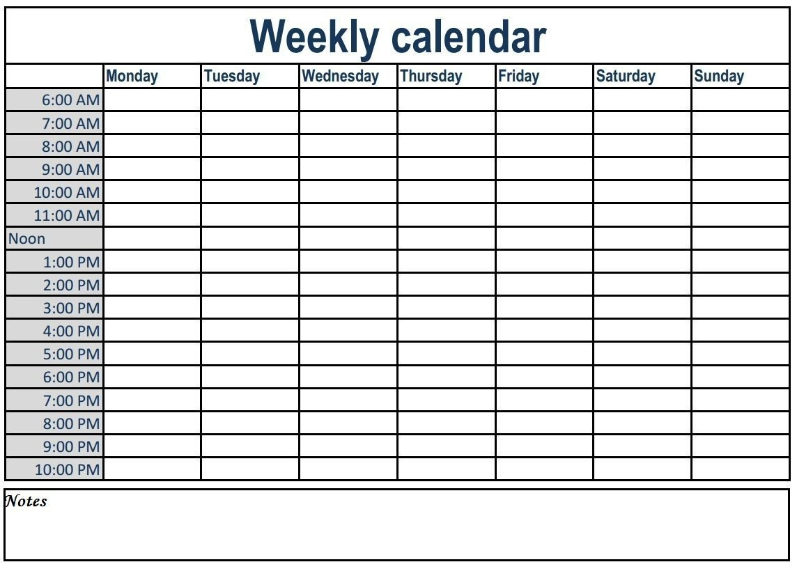 Printable Day Calendar With Times Weekly In 2020 | Weekly regarding Monsay Through Friday Calneder With Times