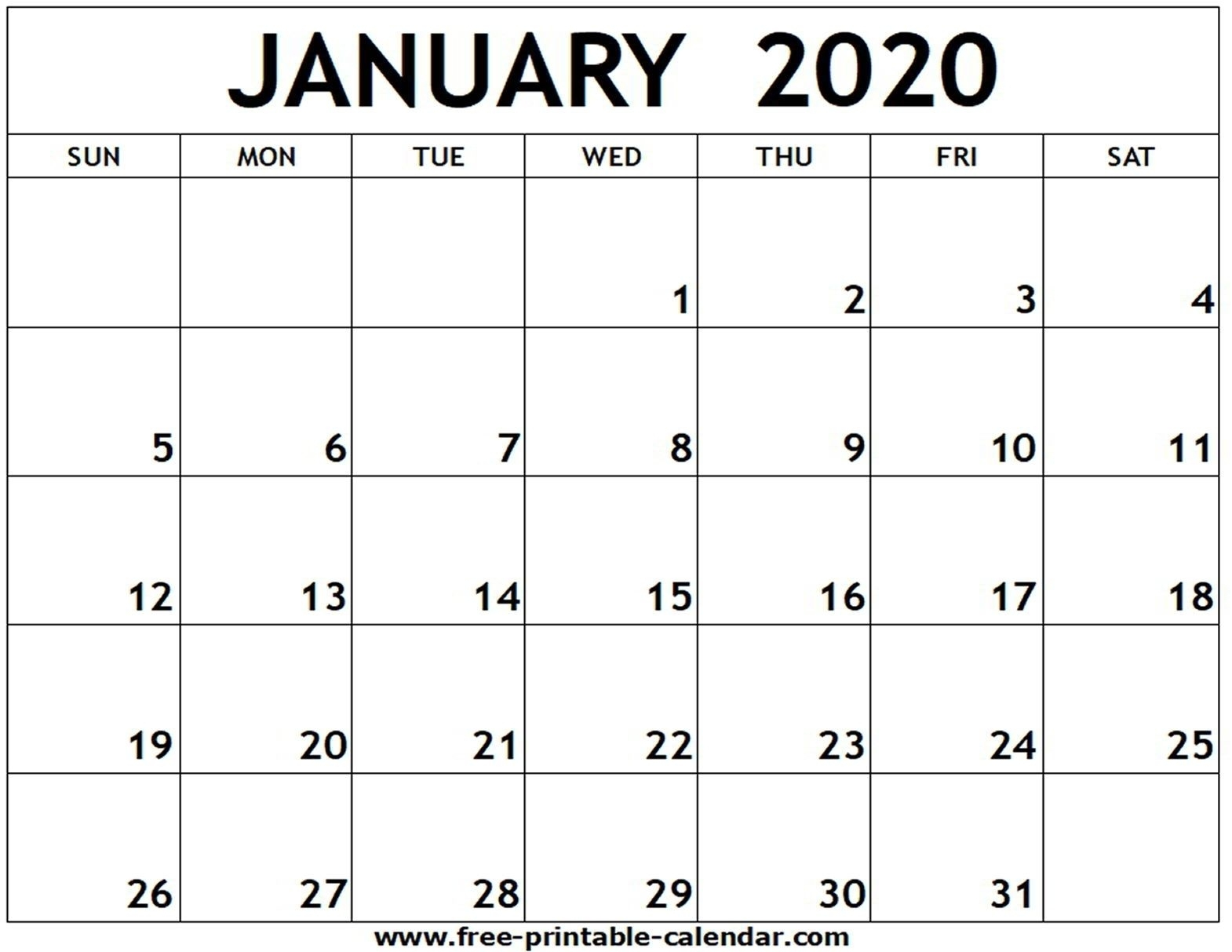 Printable Fill In Calendar 2020 In 2020 | Free Printable within 2020 Calendar To Fill In