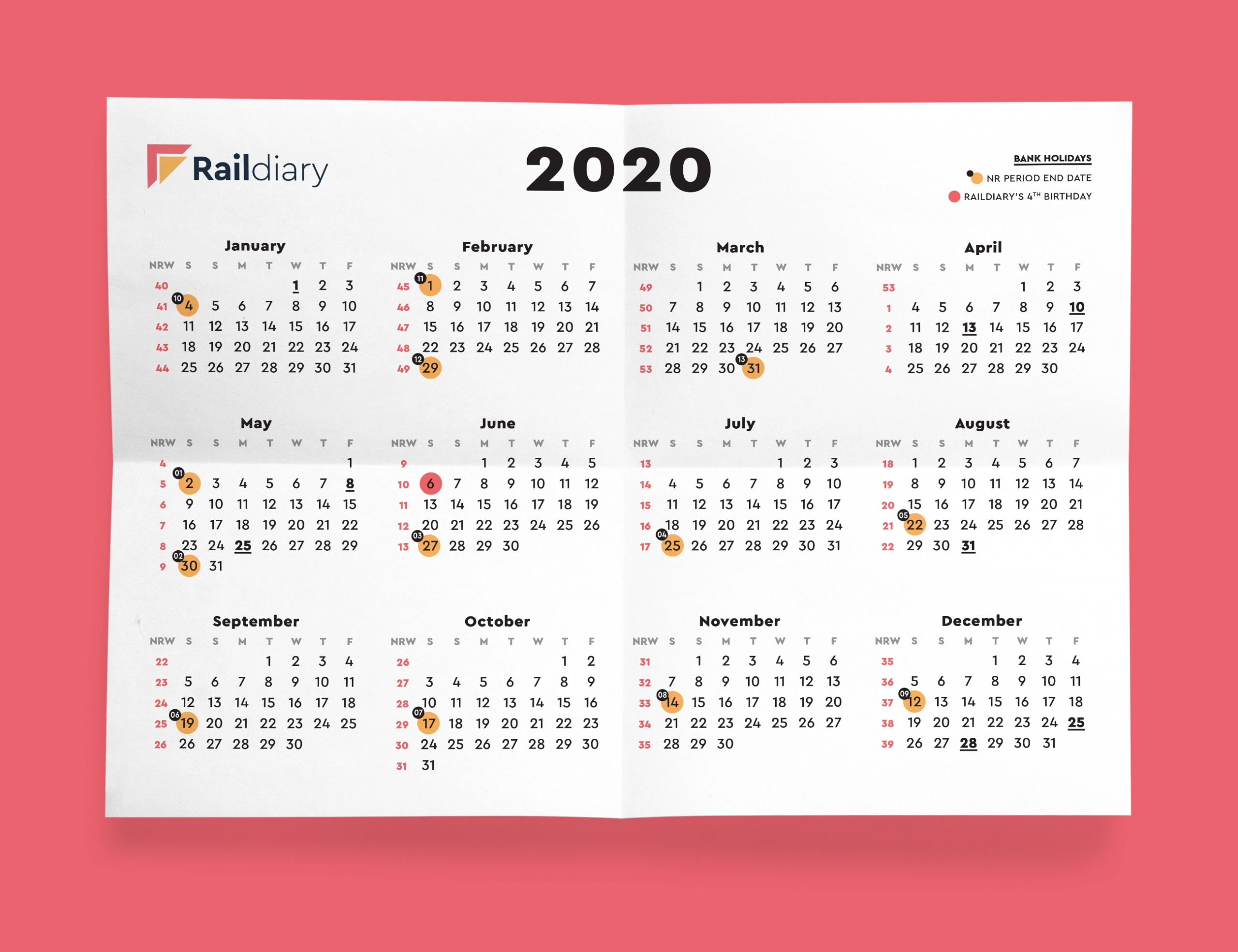 Rail Calendar 2020