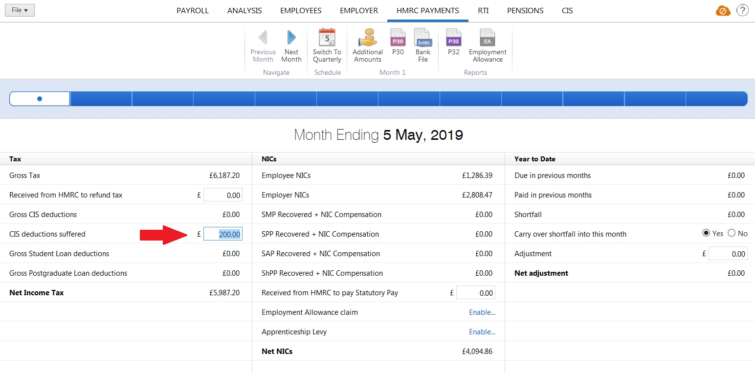 Recovering Cis Deductions Suffered - Brightpay Documentation inside Hmrc Calendar 2019/2020 For Cis