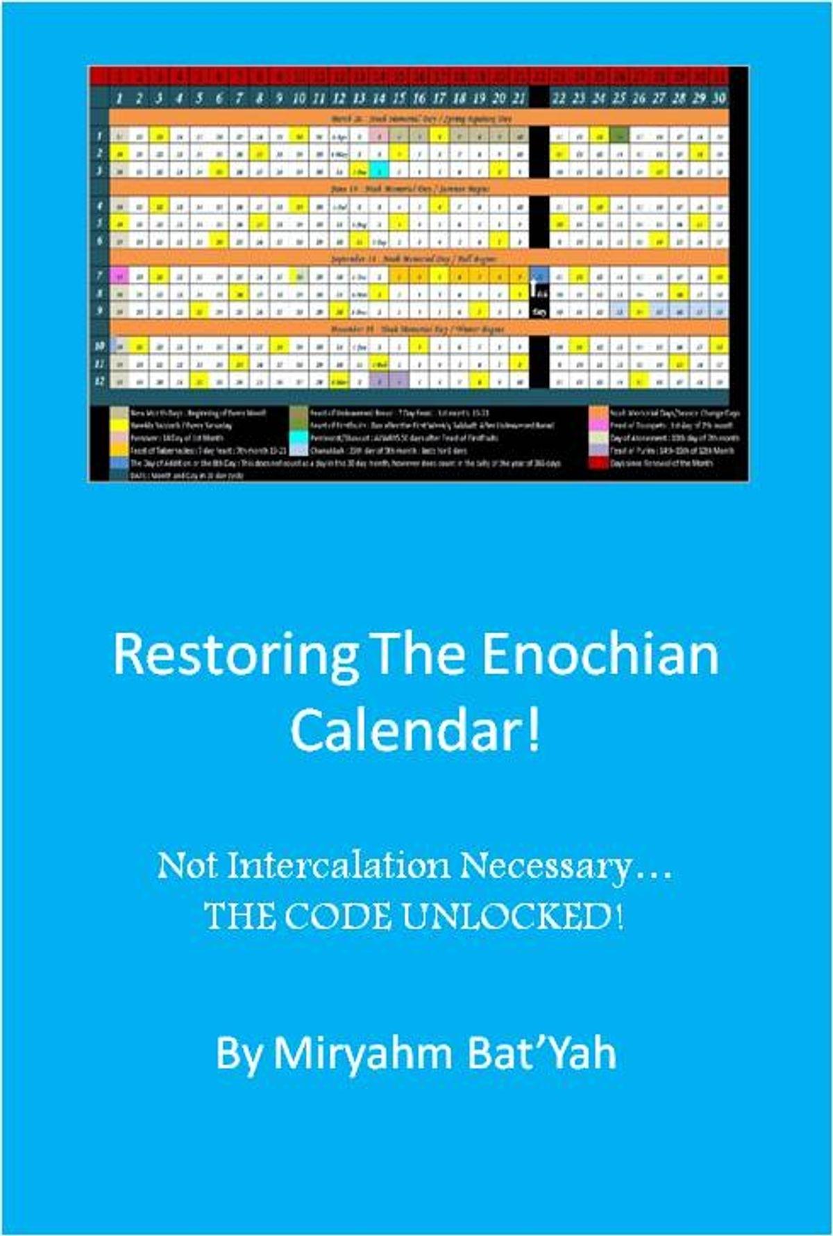 Restoring The Enoch Calendar With No Intercalation Ebookmiryahm Bat'Yah  - Rakuten Kobo pertaining to Enoch Calendar Ancient Hebrew 2019