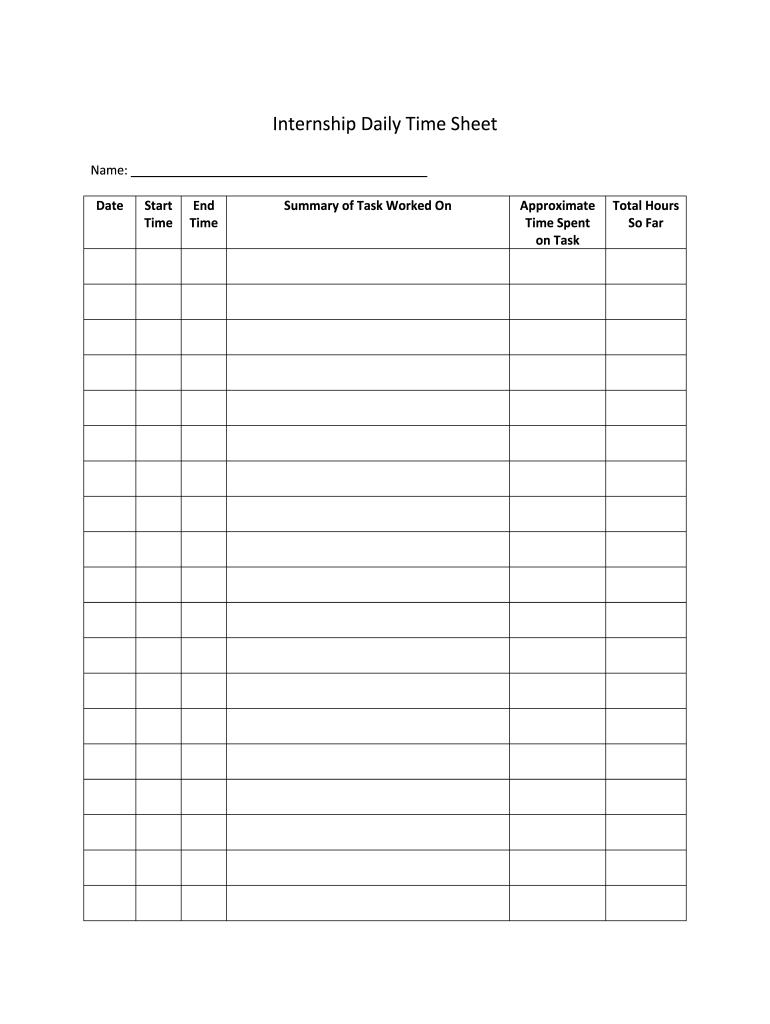 Sample Internship Forms - Fill Online, Printable, Fillable