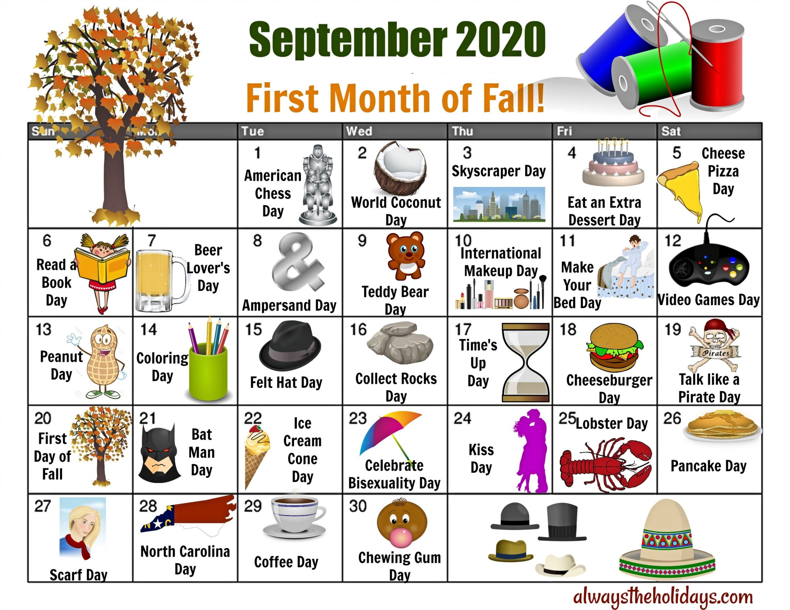 September National Day Calendar - Free Printable Calendars