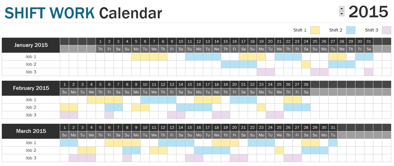 Shift Schedule Planner » Officetemplates