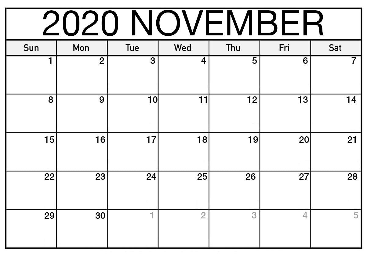 Show Calendar For November 2020 Kalendar Kuda - Free with regard to Calendar 2020 Free Printable Kuda