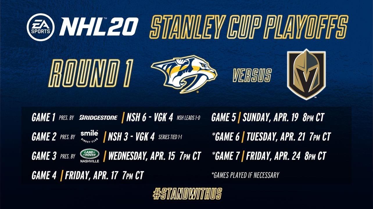 Smashville Scope: April 15 intended for Nashville Predators Printable Calendar Schedule