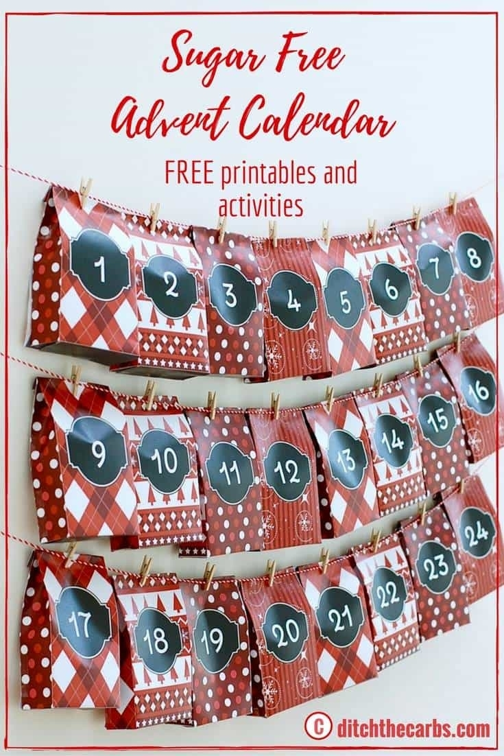 Sugar-Free Advent Calendar - Free Printables, And Fun Activities
