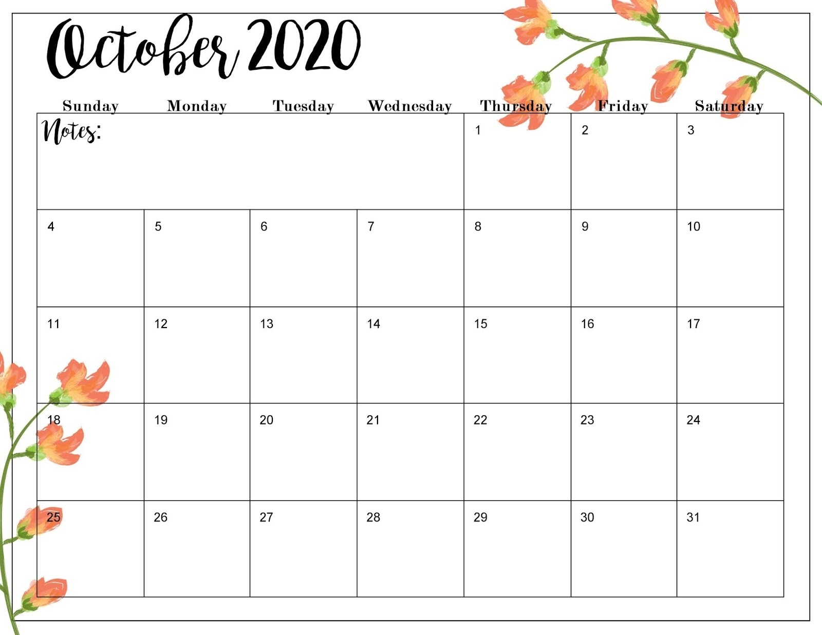 The Cozy Red Cottage: 2020 Calendar (Free Printables)