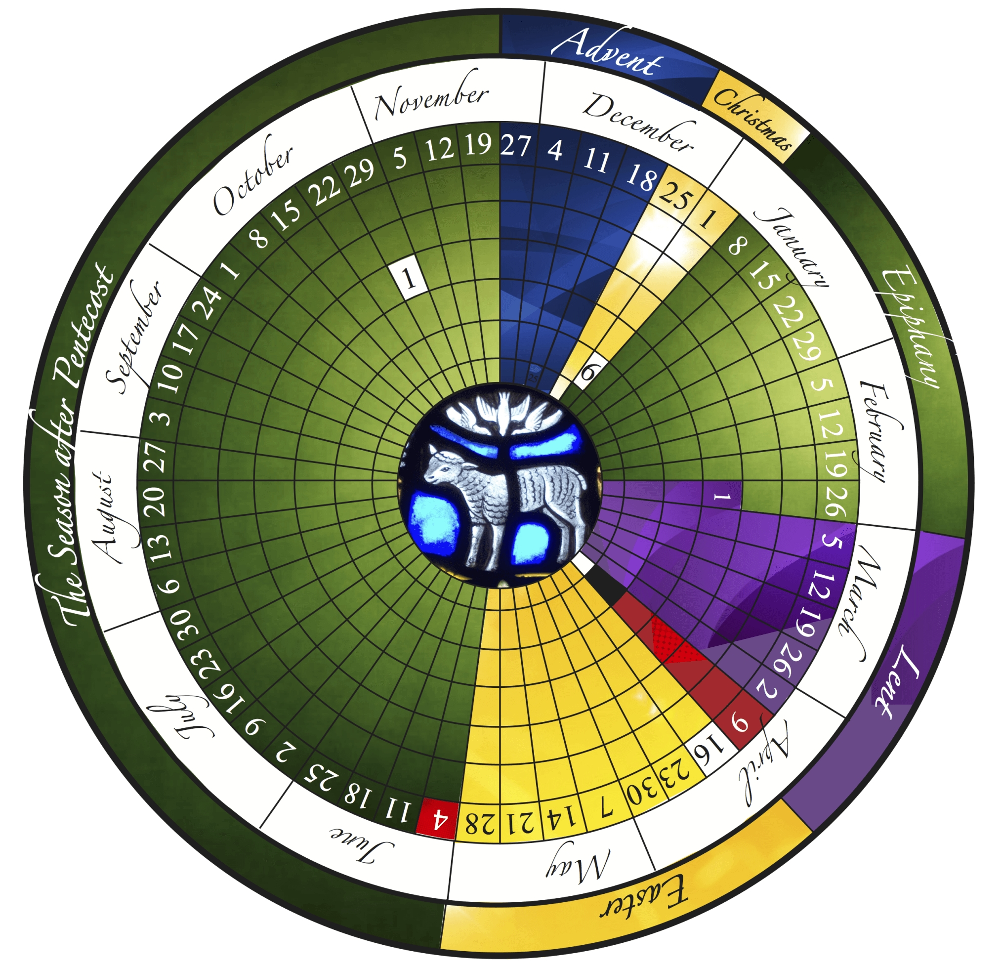 The Liturgical Year Explained (Plus Free Printable Calendar!) with regard to Free Liturgical Colors Calendar 2020