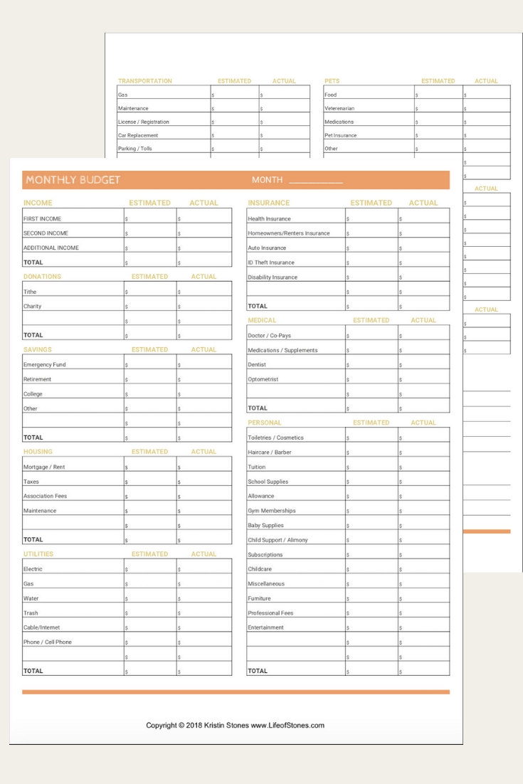 The Most Effective Free Monthly Budget Templates That Will
