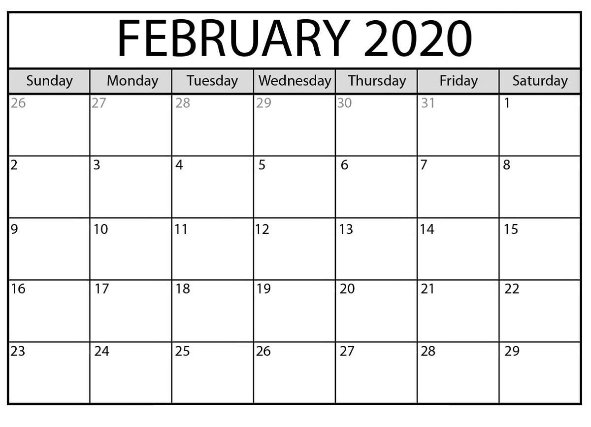 The Outstanding Free Printable Calendar Templates 2020 For pertaining to 8.5 X 11 Free Printable Calendars