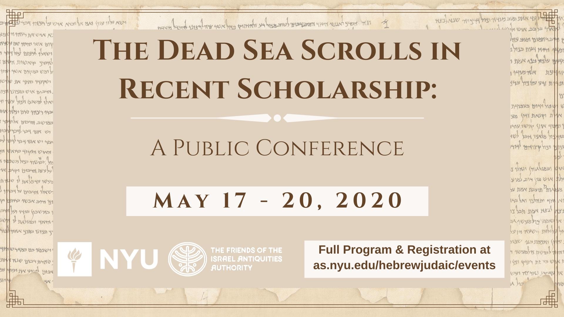Virtual] The Dead Sea Scrolls In Recent Scholarship: A regarding Enoch Calendar Ancient Hebrew 2019