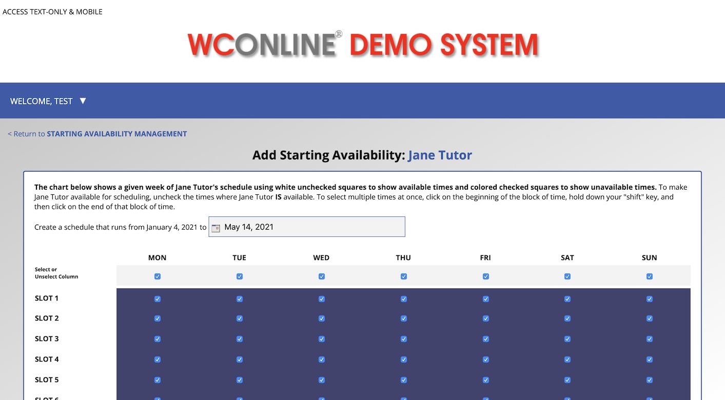 Wconline® | The Scheduling, Recordkeeping And Reporting