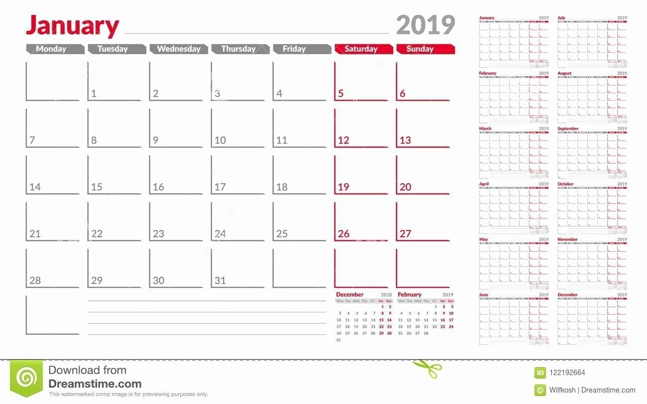 Weekly Calendar Starting With Monday In 2020 | Printable
