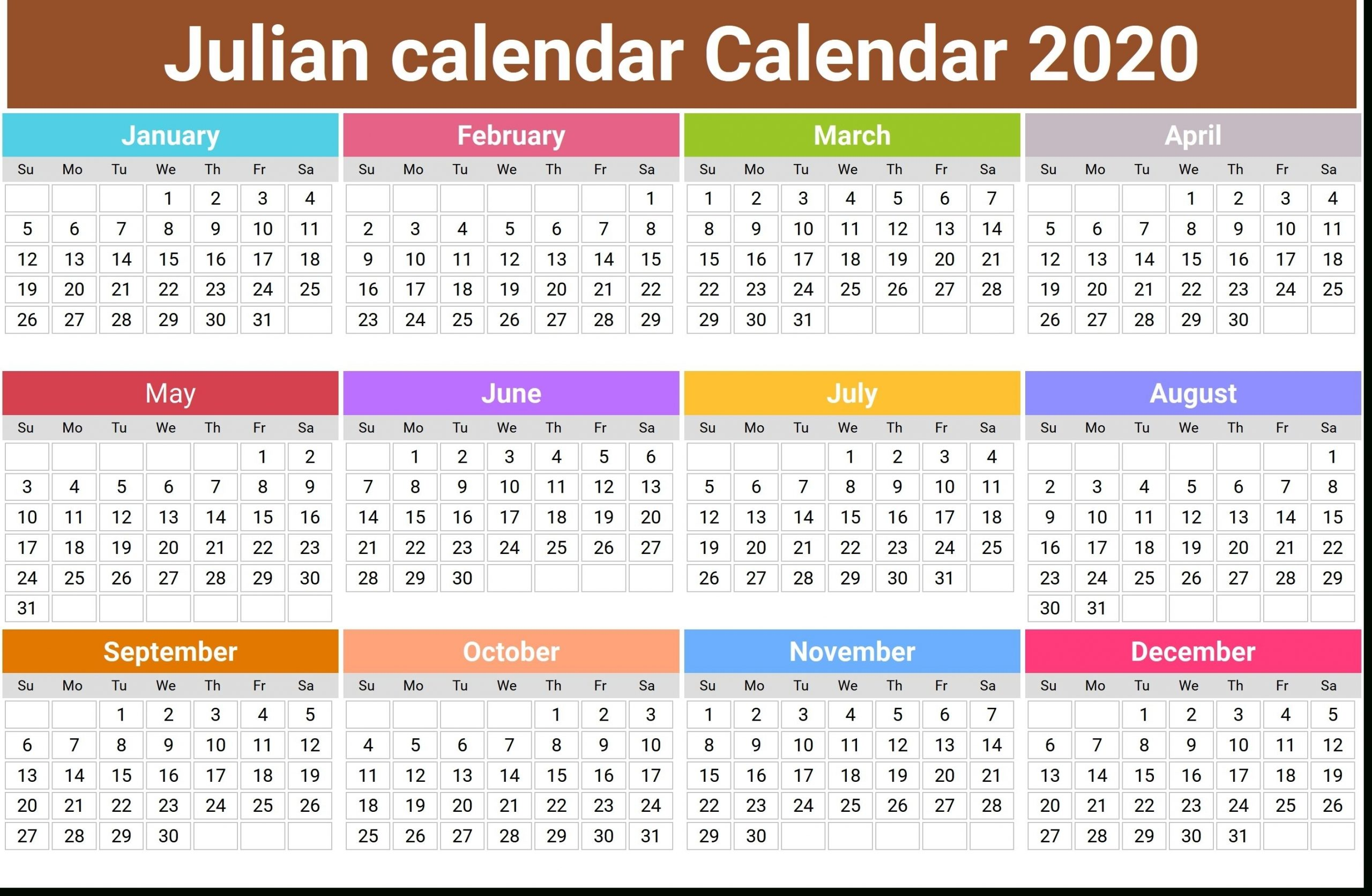 What Is The Julian Date Today In 2020 | Monthly Calendar inside What Is Julian Dates On A Calendar