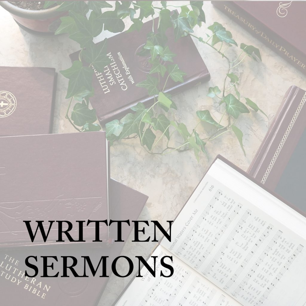 Written Sermons - Lutheran Church–Canadalutheran Church