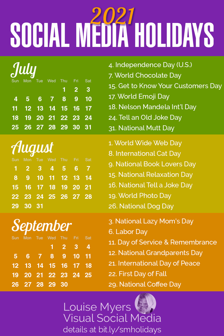 100+ Social Media Holidays You Need In 2021: Indispensable!