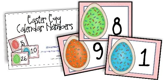 13 Printable Calendar Numbers {Free Download Sets} - Teach