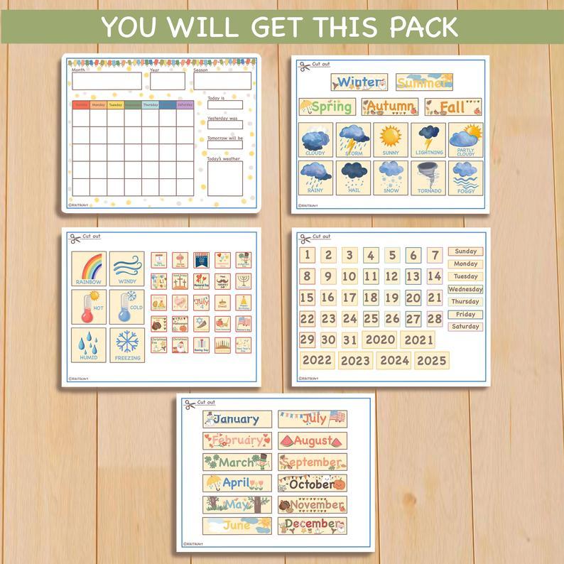 16X20 Perpetual Calendar Printable Classroom Calendar | Etsy
