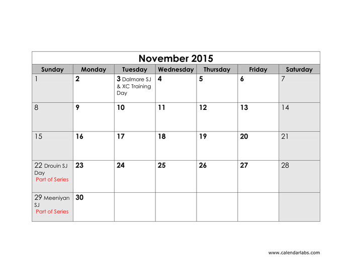 2015 Yearly Calendar In Word And Pdf Formats - Page 11 Of 12