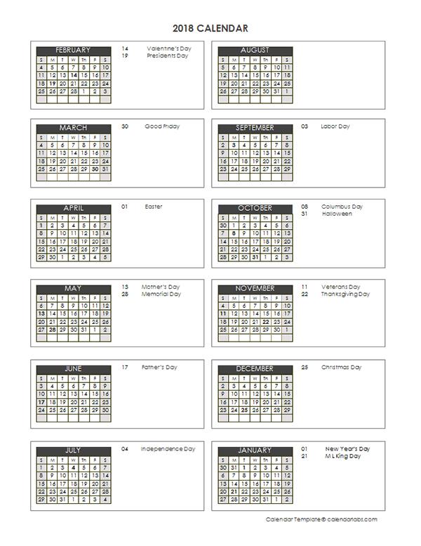 2018 Accounting Close Calendar 4-4-5 - Free Printable