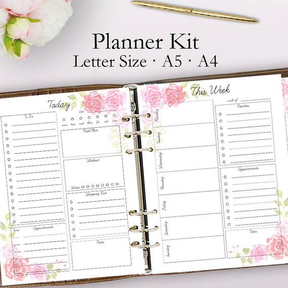 2018 Planner Printable Daily Planner Pages Weekly Planner