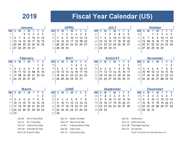 2019 Fiscal Planner Usa - Free Printable Templates