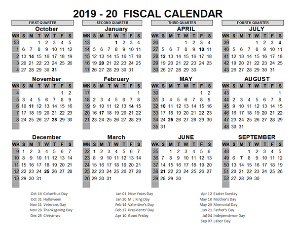 2019 Us Fiscal Year Template - Free Printable Templates