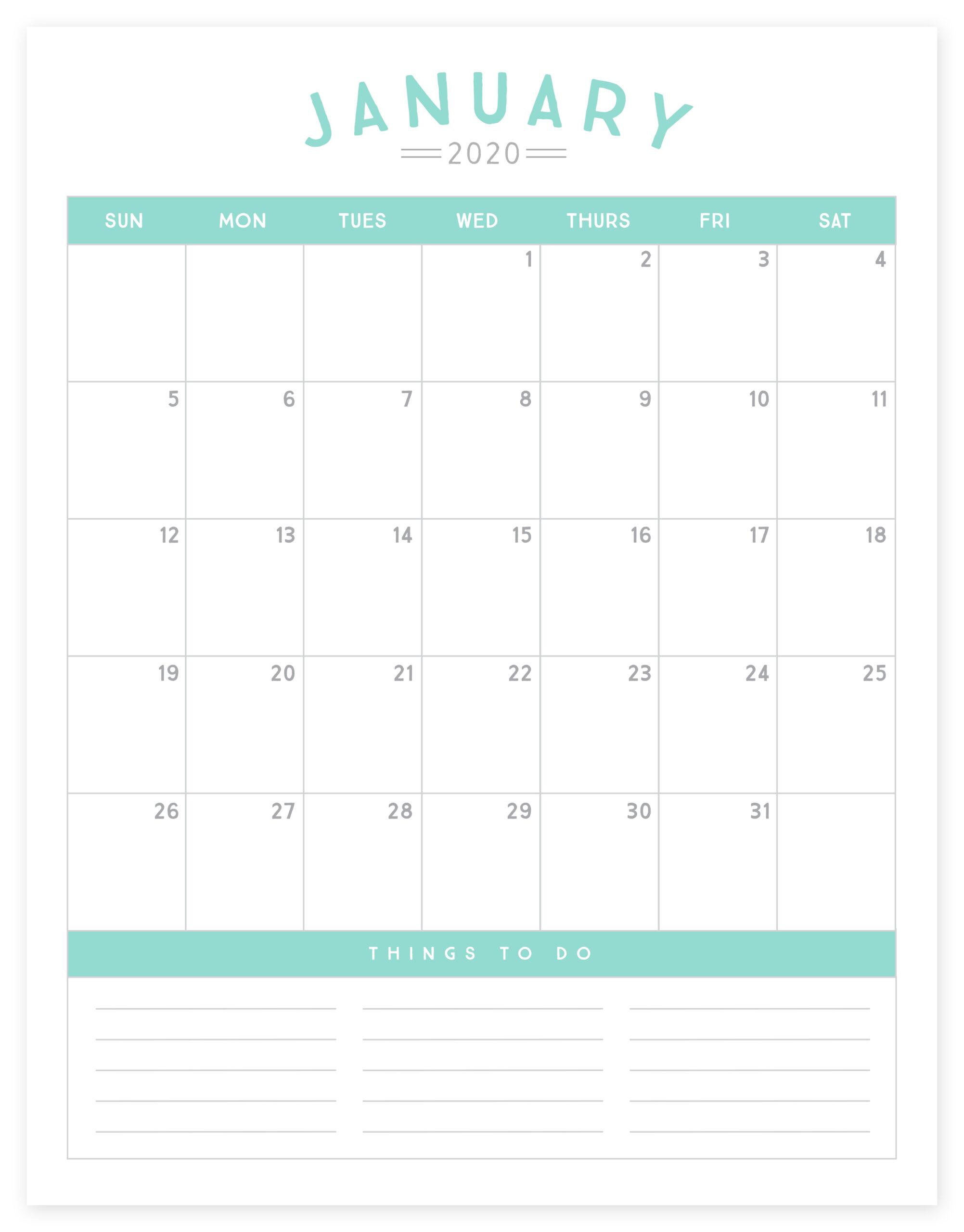 2020 Calendar Simple As That - Simple As That