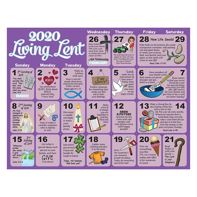 2020 Children'S Lenten Activity Calendar - 100/Pk - Gifts