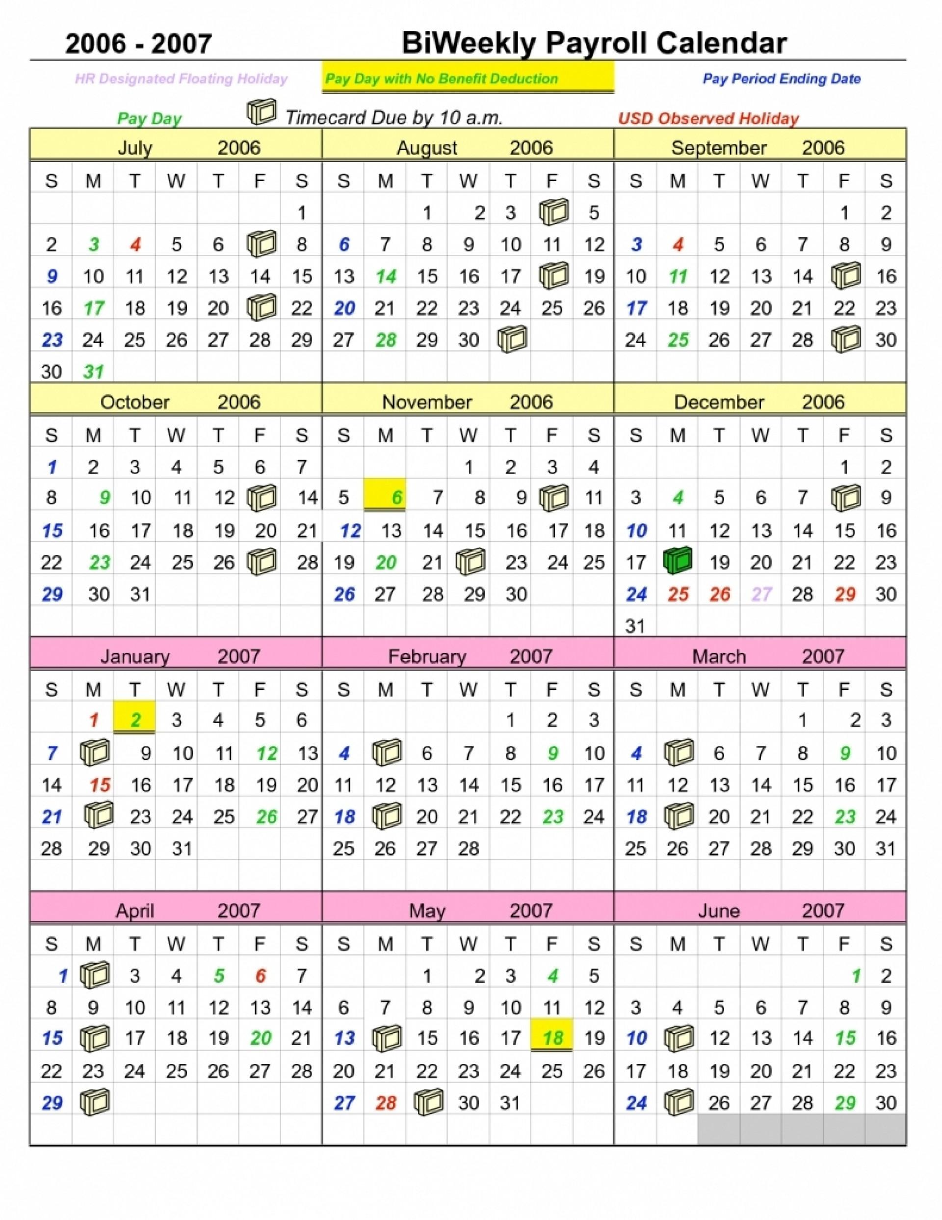 2020 Federal Government Pay Period Calendar   Free