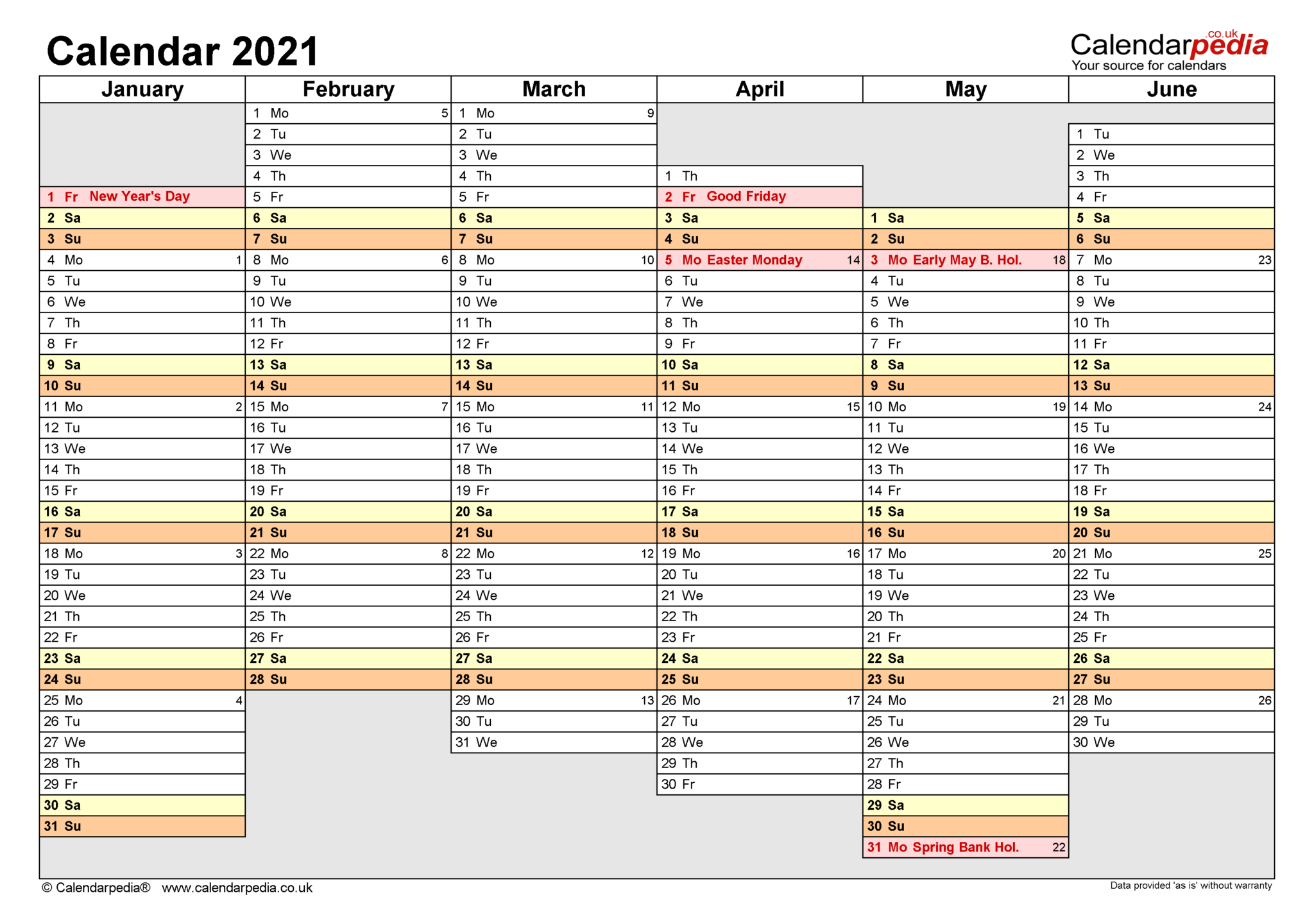 2020 Monday To Friday Schedule Template | Example Calendar