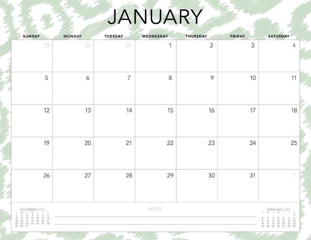 2020 Monthly Calendar Monday Start Printable - Calendar
