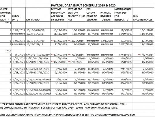 2020 Pay Period Calender | Printable Calendar Template 2021