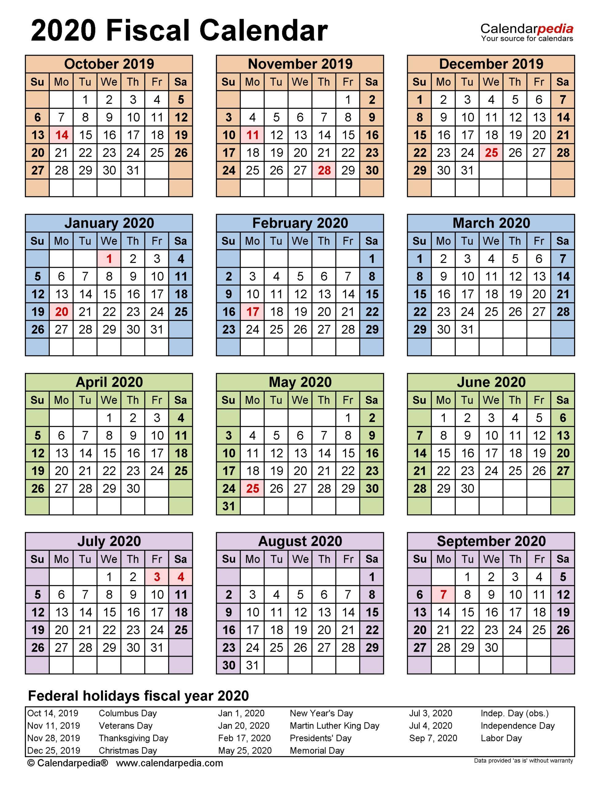 2021 19 Financial Calendar Printable - Template Calendar