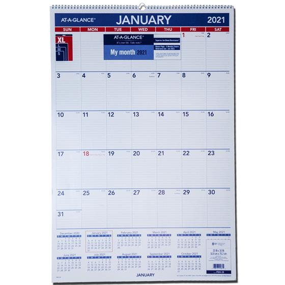 2021 At-A-Glance Pm4-28 Monthly Wall Calendar, 20 X 30