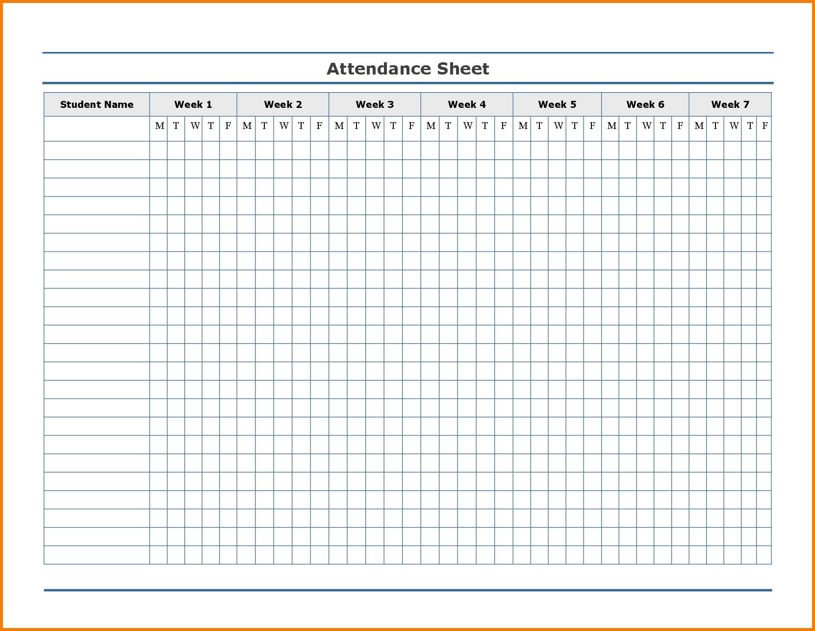 2021 Attendance Calendar - Template Calendar Design