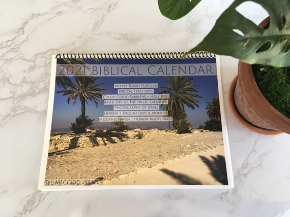 2021 Biblical Calendar Hebrew Calendar Torah Portion | Etsy